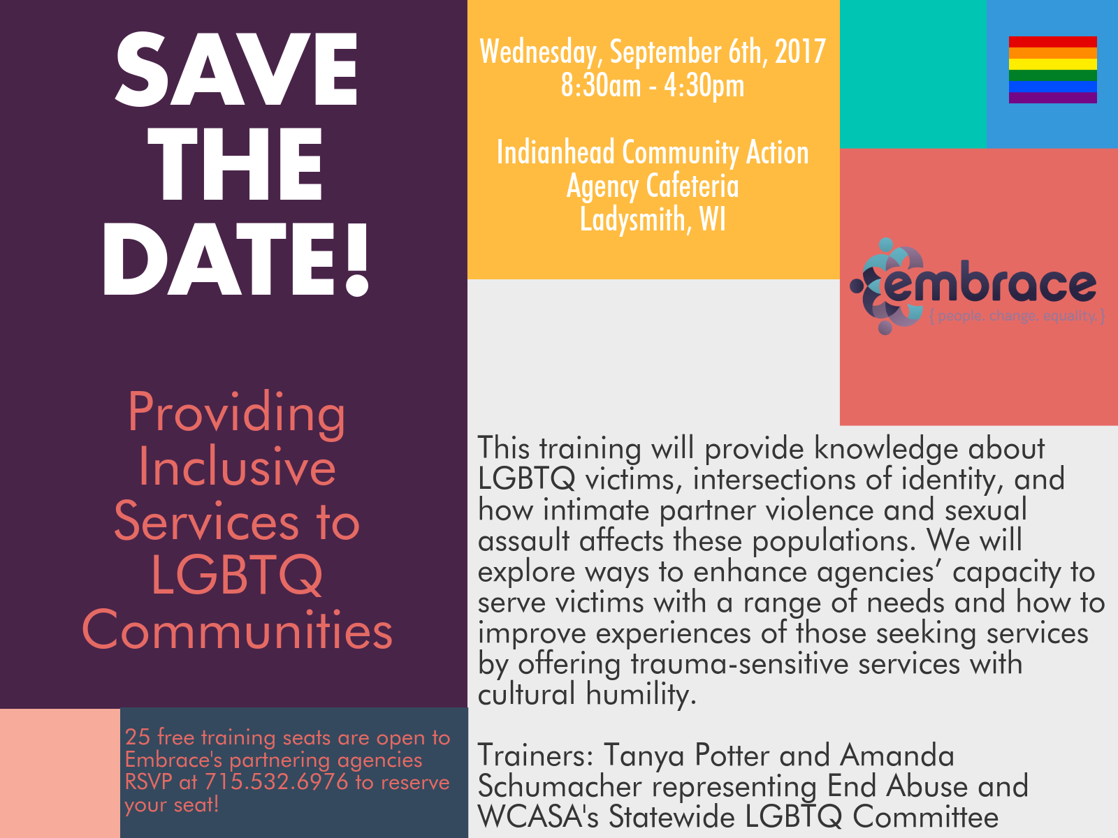 LGBTQ Training Save the Date