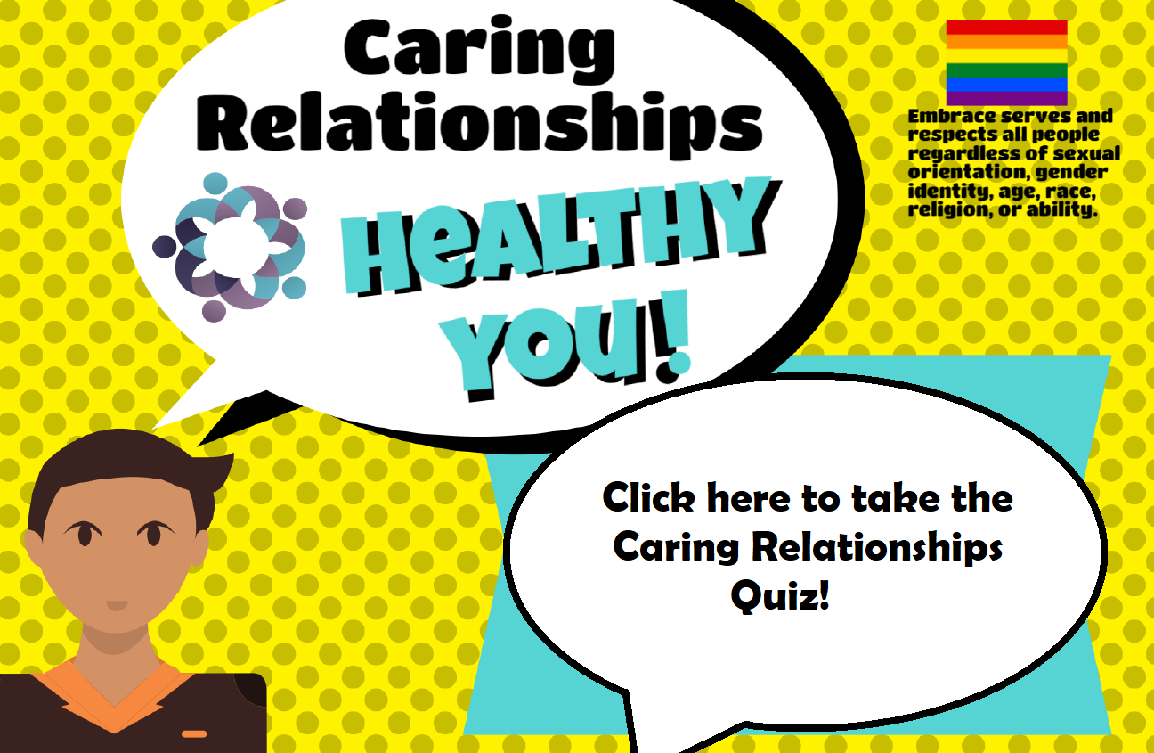 Website slide caring relationship
